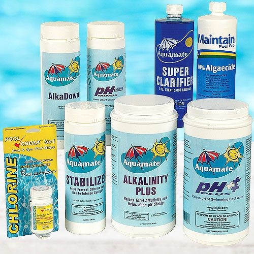 8 Piece Pool Maintenance Chemical Kit system products