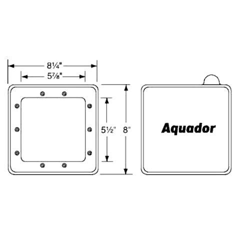 Aquador 1090 Above Ground Skimmer Plate Kit