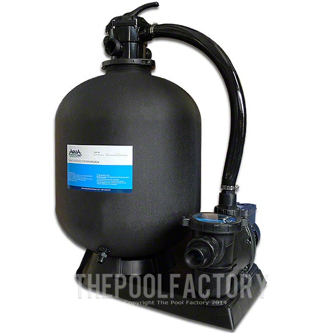 "AquaPro 24"" Sand Filter System 2-HP Pump 2 Year Warranty"