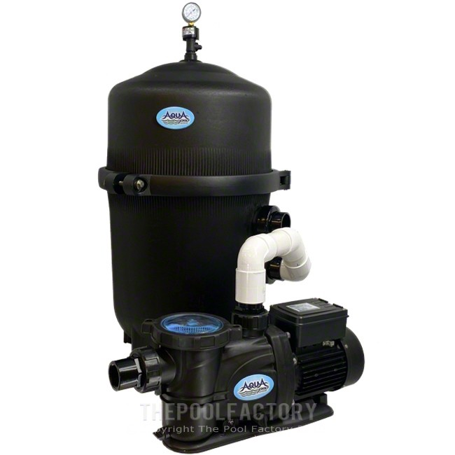 AquaPro 425 SQ. FT. Mega Quad Cartridge Filter System with 2-HP 2-SPEED PurFlow Pump