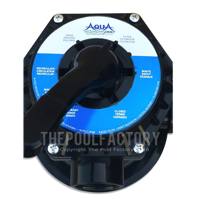 Aquapro 7 Way Top Mount Valve  (Top view)