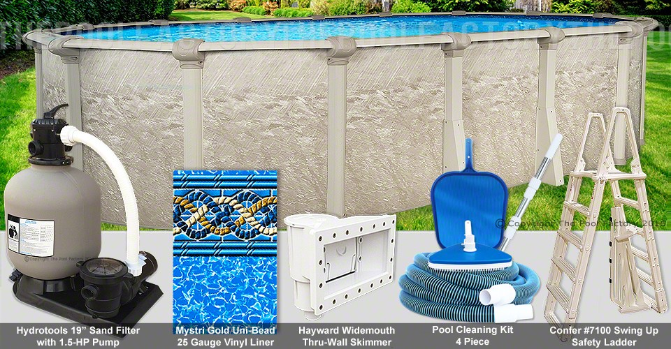 "15'x24'x54"" Cameo Oval Pool Package"