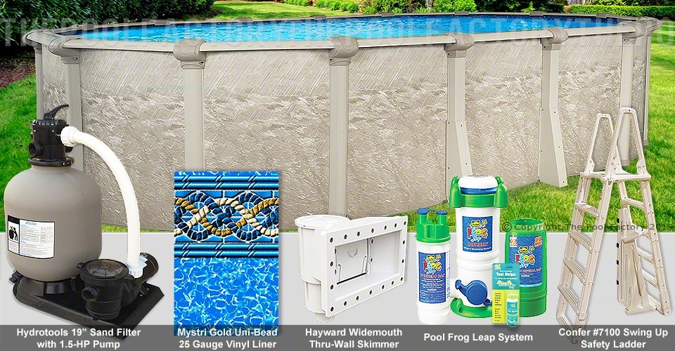 "12'x24'x54"" Cameo Oval Pool Package"