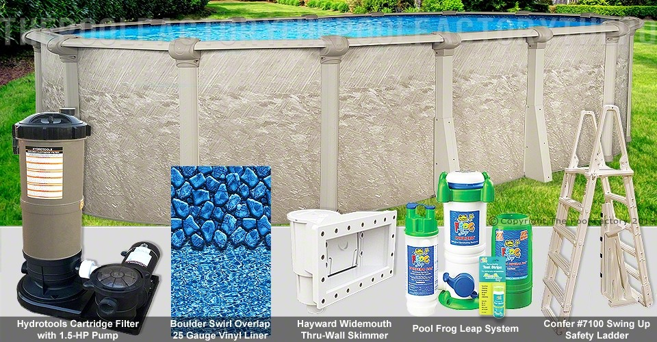 "12'x18'x52"" Cameo Oval Pool Package"