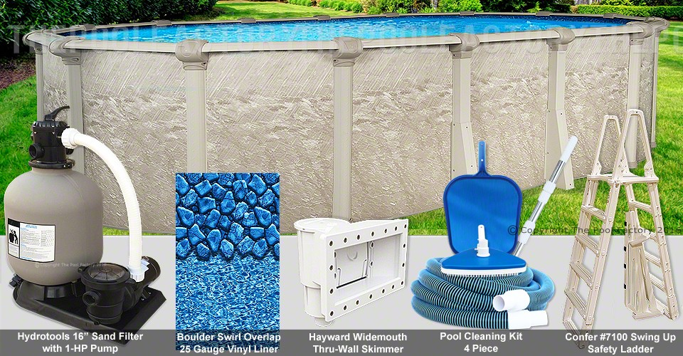 "12'x20'x52"" Cameo Oval Pool Package"