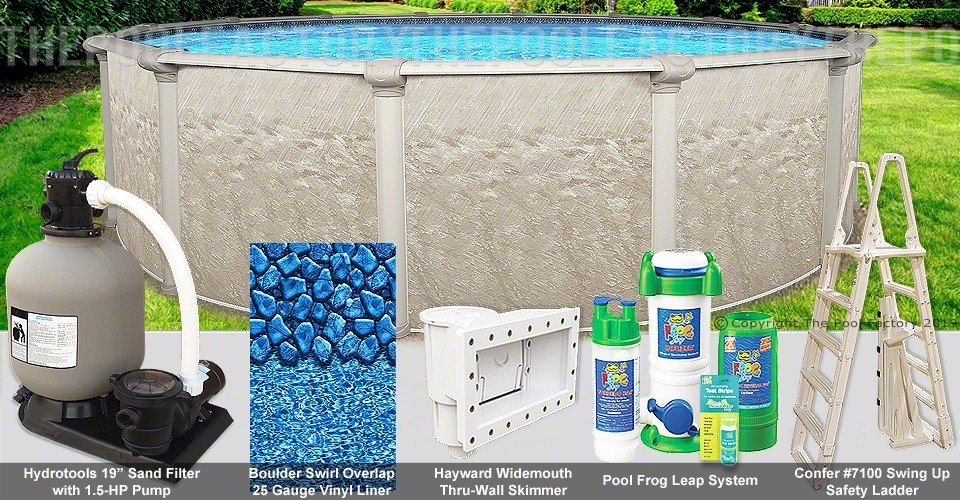 """24'x48"""" Cameo Round Pool Package"""