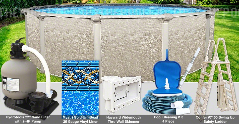 "30'x54"" Cameo Round Pool Package"