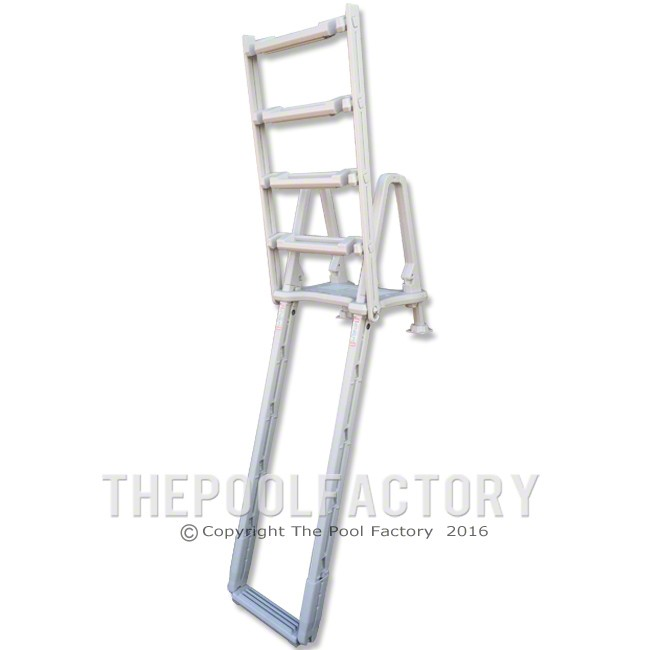 Confer Outside Ladder for Curve Step Model #8100X (shown in swing up position)