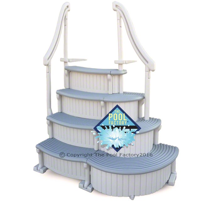 Confer Curve Deluxe Above Ground Pool Steps (shown with treads curving outward)