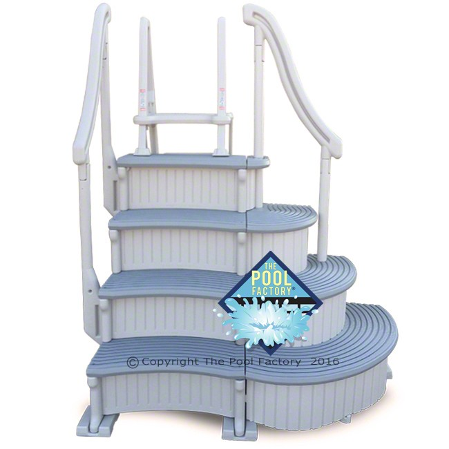 Confer Curve Deluxe Step with Outside Ladder
