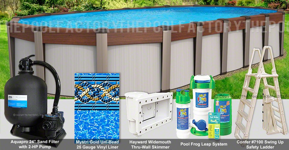 "18'x40'x54"" Contempra Oval Pool Package"