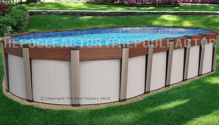 Contempra oval above ground pools the pool factory for Club piscine above ground pools prices