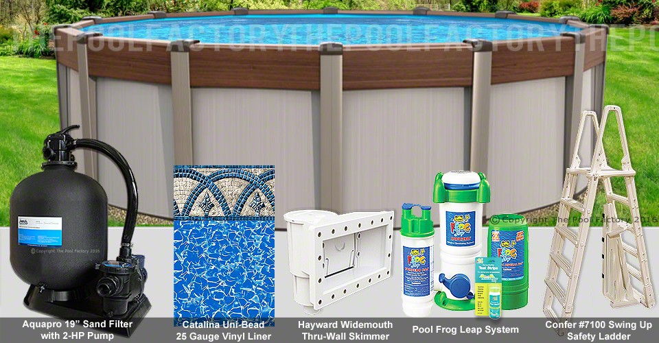 "15'x54"" Contempra Round Pool Package"