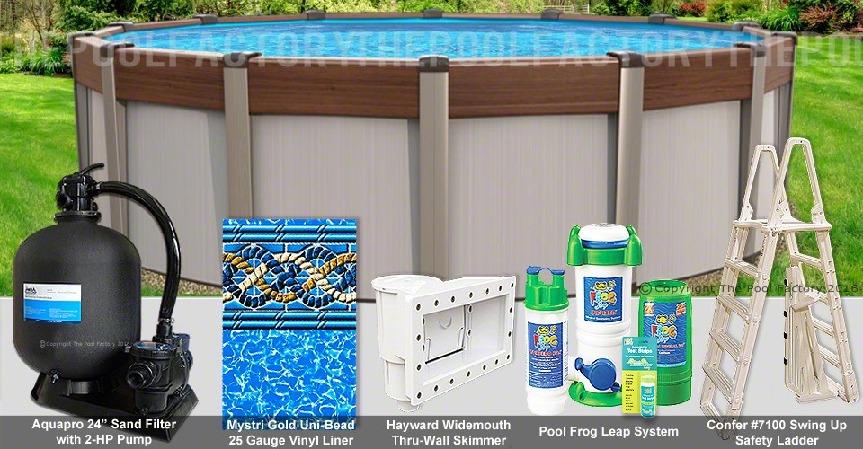 """33'x54"""" Contempra Round Pool Package"""
