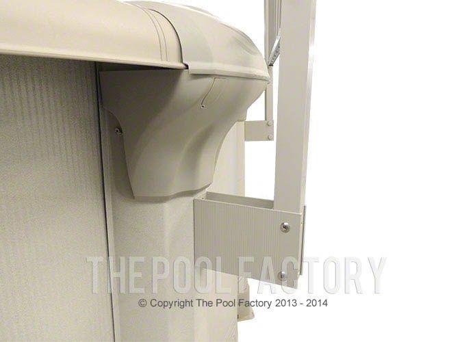 Sharkline Integrity Aluminum Fence Support Bracket Close-Up