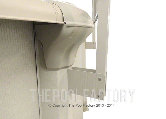 Sharkline Integrity Aluminum Fence Support Bracket Close-Up
