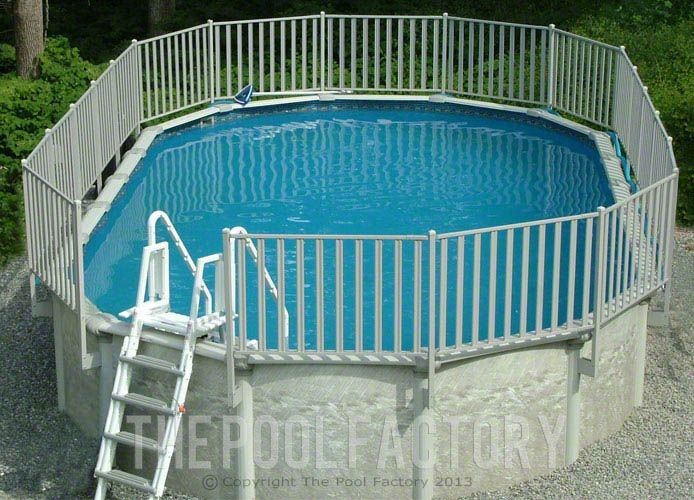 Sharkline Integrity Aluminum Fence Kit Installed on an Above Ground Pool