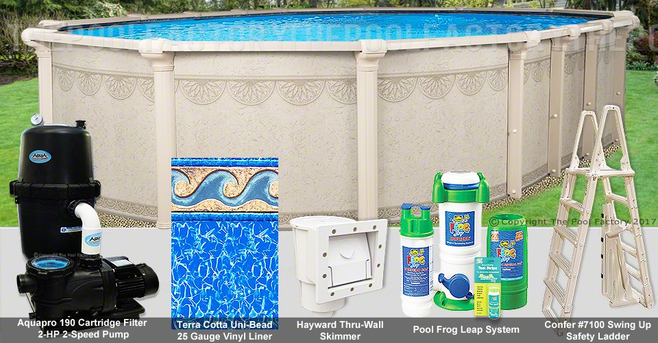 "16'x32'x52"" Hampton Oval Pool Package"