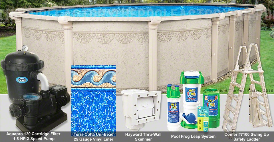 "12'x27'x52"" Hampton Oval Pool Package"