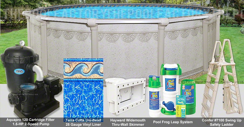 "12'x52"" Hampton Round Pool Package"