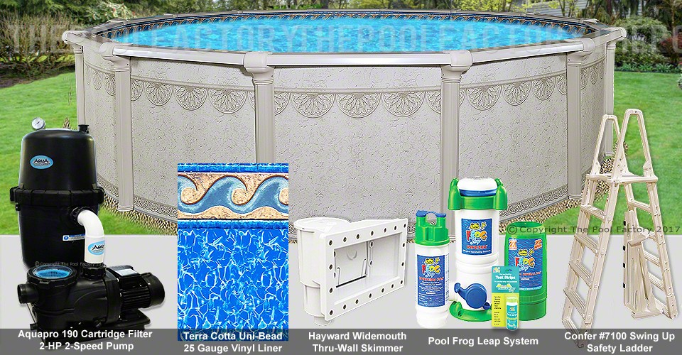 "27'x52"" Hampton Round Pool Package"