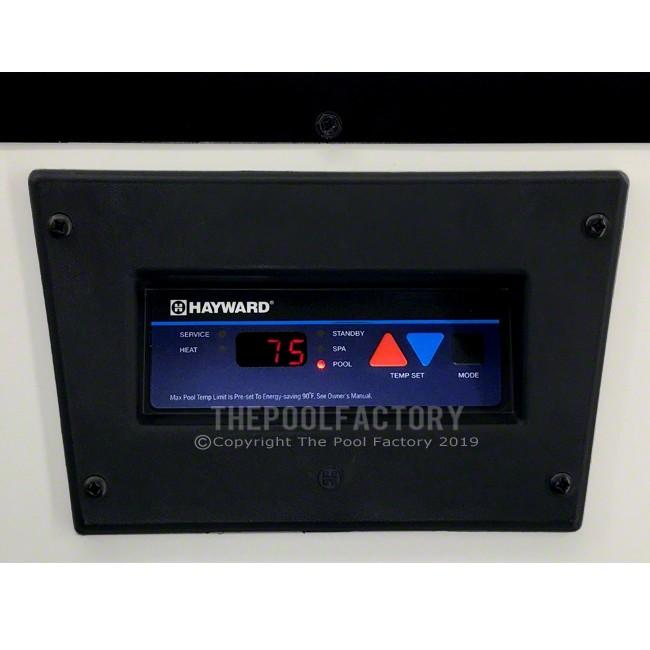 Hayward H-Series 135K BTU Natural Gas Above Ground Heater - Control Panel View