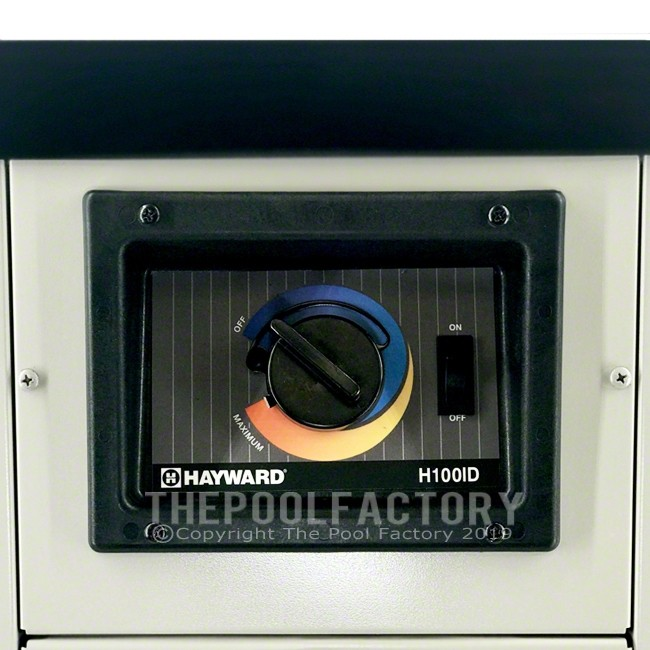 Hayward H-Series 100K BTU Natural Gas Aboveground Heater H100ID1 - Control Panel View