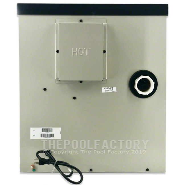 Hayward H-Series 100K BTU Natural Gas Aboveground Heater H100ID1 - Right Side Panel View