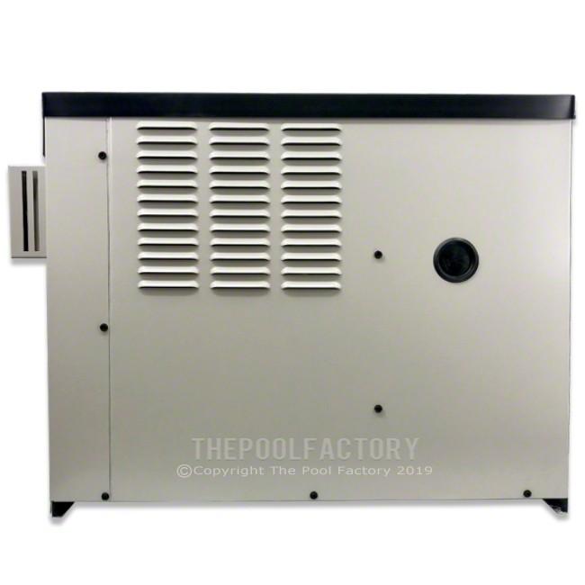 Hayward H-Series 135K BTU Natural Gas Above Ground Heater - Left Side Panel View