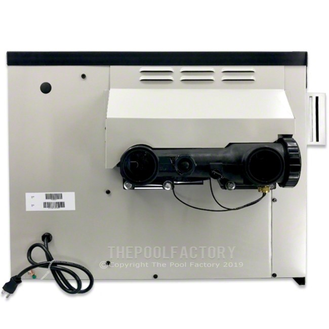 Hayward H-Series 135K BTU Natural Gas Above Ground Heater - Right Side Panel View