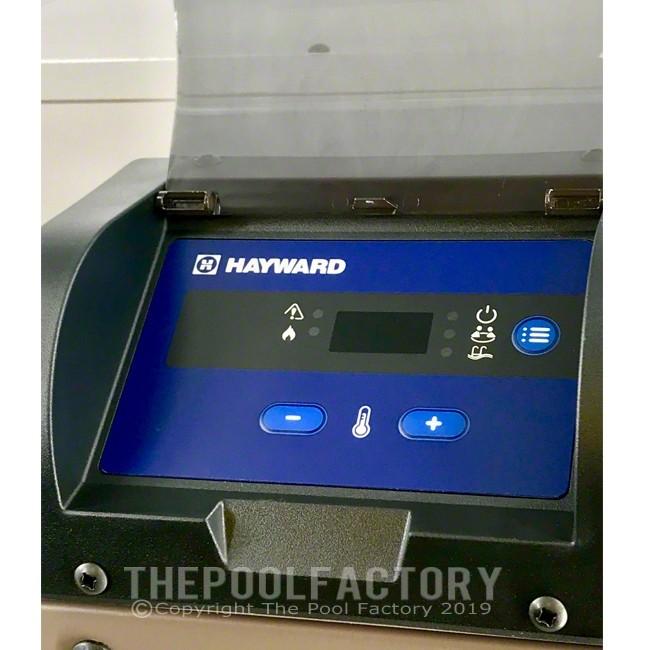 Hayward Universal H-Series 400,000 BTU Low NOx Natural Gas Heater - Control Panel View