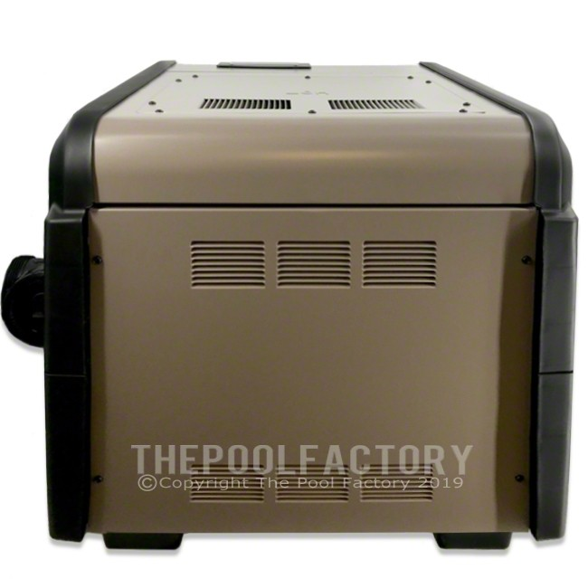 Hayward Universal H-Series 300,000 BTU Low NOx Natural Gas Heater - Back Panel View