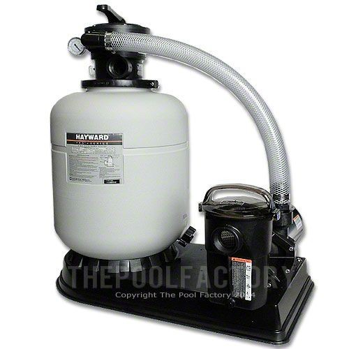 Hayward s166t sand filter system with 1 5hp power flo pump for Inground pool pump and filter systems