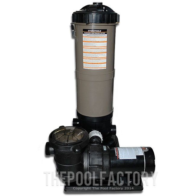 Hydrotools Cartridge Filter System 1.5HP Pump Side View