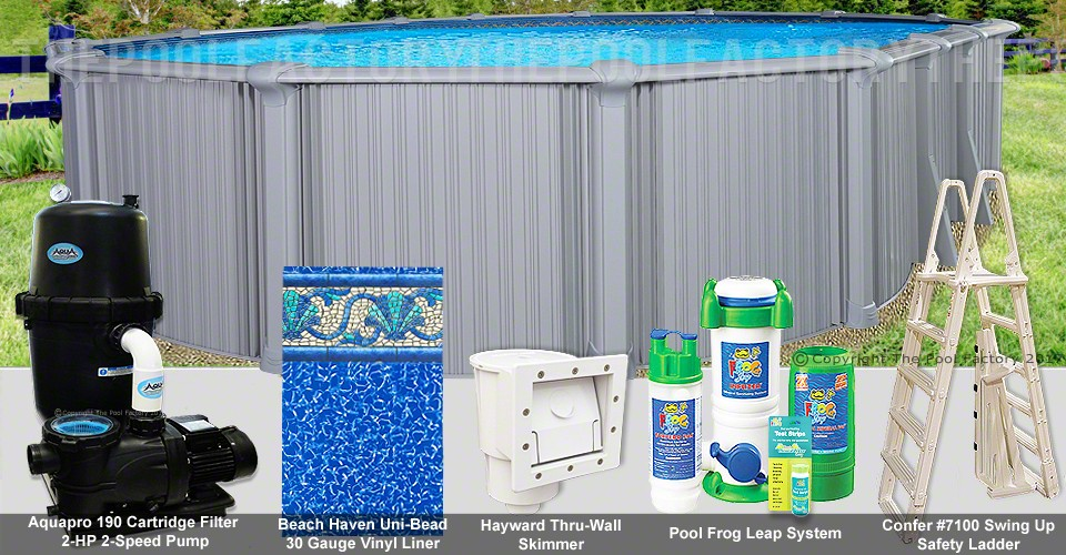 """18'x40'x54"""" Intrepid Oval Pool Package"""