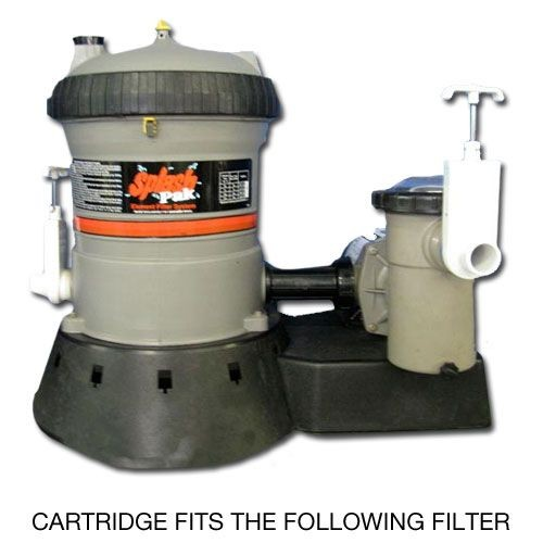 The Jacuzzi Splash Pak EF50 Replacement Filter Cartridge fits the system shown above