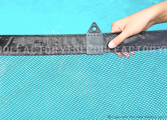 33' Round Leaf Net Cover - Close-up