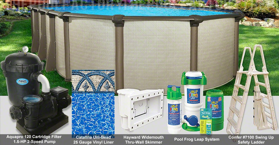 "12'x18'x54"" Melenia Oval Pool Package"