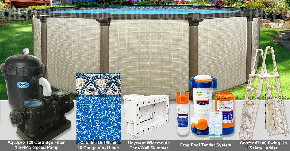 "15'x54"" Melenia Round Pool Package"