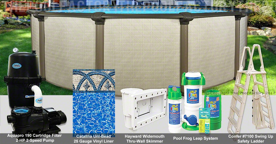 "24'x54"" Melenia Round Pool Package"