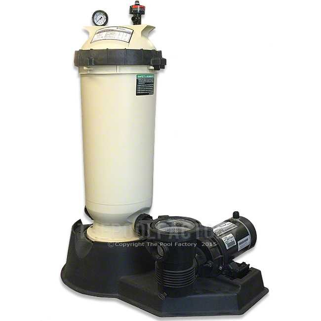 Pentair cc125 cartridge filter system with 1 5hp opti flo pump for Inground pool pump and filter systems