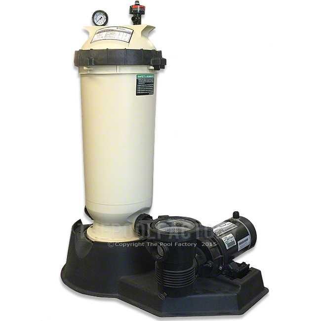 Pentair Cc125 Cartridge Filter System With 1 5hp Opti Flo Pump