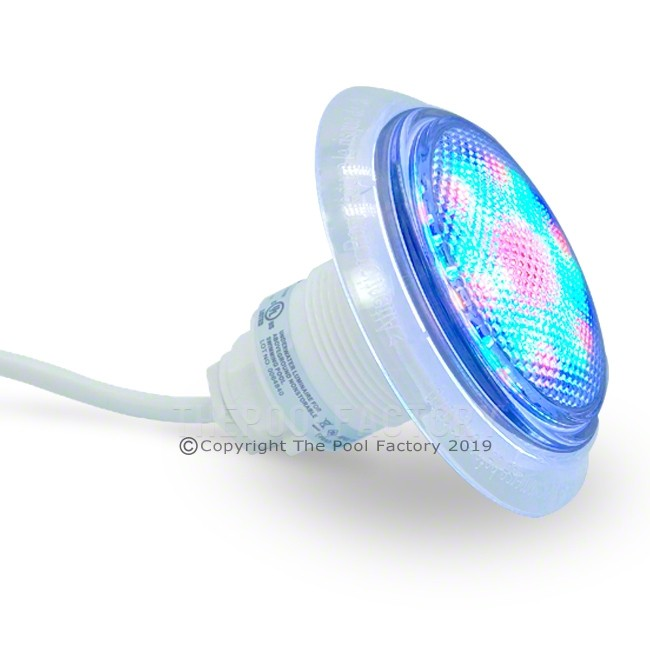 Multi-Colored Universal Above Ground Step Pool Light  - Side View