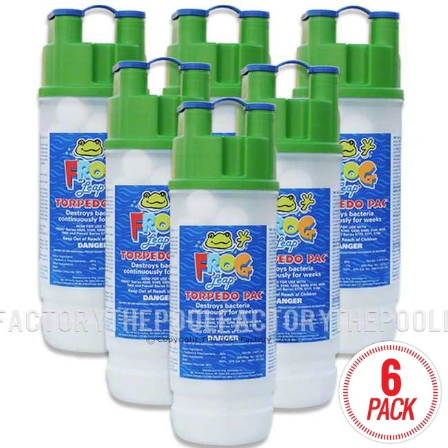 Pool Frog Leap Torpedo Pac 6 Pack The Pool Factory