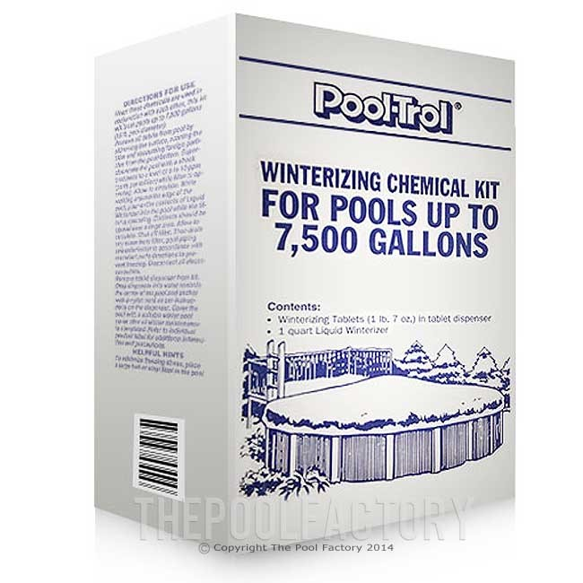 Winterizing Kit For Swimming Pools Up To 7 500 Gallons Pool Trol