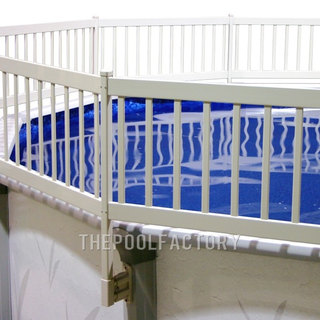 16'x32' Oval Vinyl Works Premium Resin Fence Kit