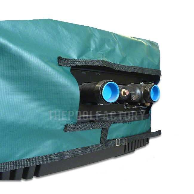 Pro-Tech Electric Heat Pump Cover - Fits Most Large Heat Pumps - Side View