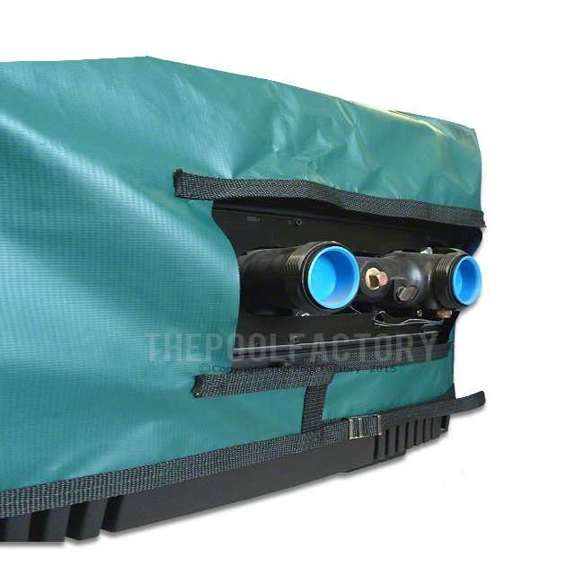 Pro-Tech Heater Cover for Jandy LXI300, LX300, LXI400, LX400 - Side View