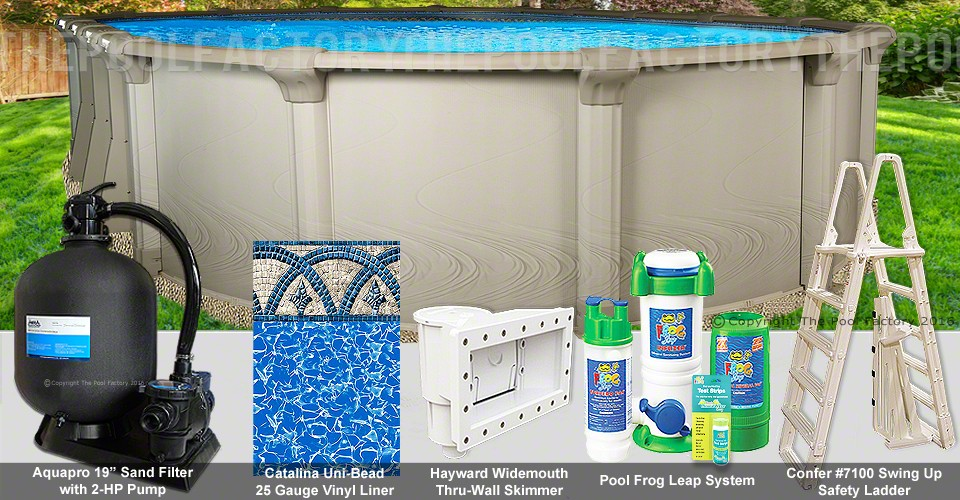 """12'x20'x54"""" Quest Oval Pool Package"""