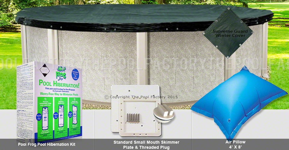 18' Round Supreme Closing Package for Pool Frog System (Small Mouth Plate)